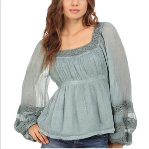Free People Tops - Free People Moonchaser Top Blue NWT